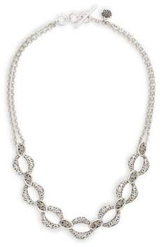Lois Hill Double Chain Statement Necklace
