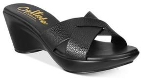 Callisto Dimple Platform Wedge Sandals.