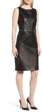 BOSS Syrix Leather Sheath Dress