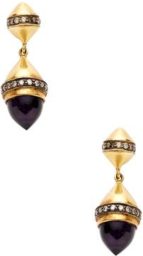 Amrapali Women's Champagne Diamond & Amethyst Drop Earrings