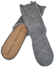 Carole Hochman Plushfill Cable Slouch Slipper Socks