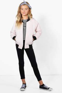 boohoo Girls Padded Quilted Bomber