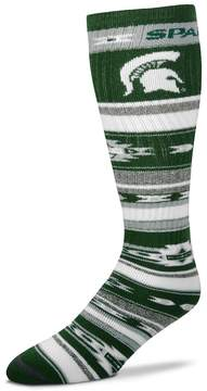 For Bare Feet Adult Michigan State Spartans Tailgater Crew Socks