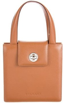 Bvlgari Grained Leather Satchel