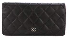 Chanel Quilted Yen Wallet
