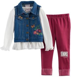 Little Lass Toddler Girl Denim Vest