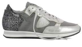 Philippe Model Women's Grey Cotton Sneakers.