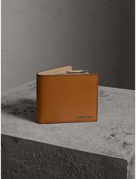 Burberry Leather International Bifold ID Coin Wallet
