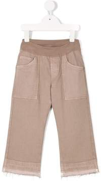 European Culture Kids raw edge trousers