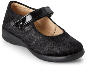 Naturino Toddler/Kids Girls) Black & Silver Mary Jane Shoes