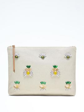 Pineapple Large Zip Pouch