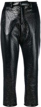 Au Jour Le Jour vinyl cropped trousers