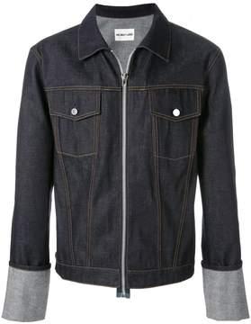 Helmut Lang zip up denim jacket