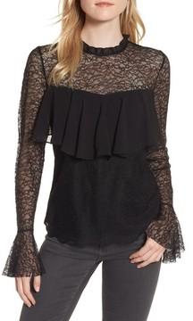 Chelsea28 Women's Ruffle Lace Top