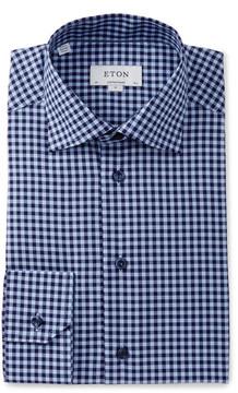 Eton Gingham Regular Fit Dress Shirt