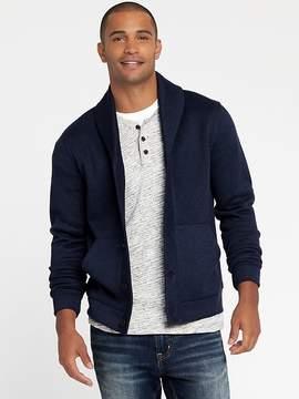 Old Navy Shawl-Collar Sweater-Knit Fleece Cardigan for Men