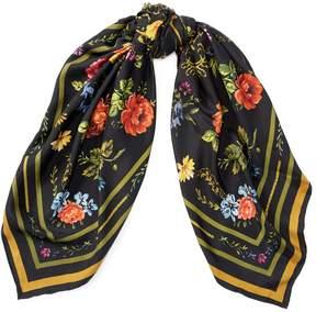 Ralph Lauren Floral Wool Scarf