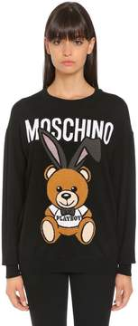 Moschino Playboy Bear Wool Intarsia Sweater