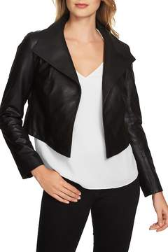 1 STATE 1.State Crop Faux Leather Jacket