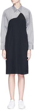 Aalto Stripe poplin yoke jacquard dress