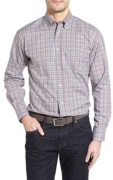 Robert Talbott Men's Anderson Classic Fit Plaid Oxford Sport Shirt
