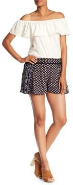 Angie Printed Lace Wasit Detail Shorts