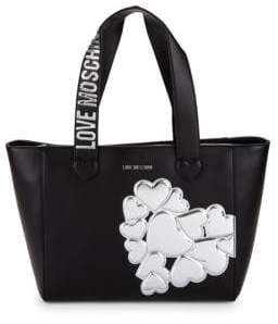 Love Moschino Metallic Heart Patch Tote
