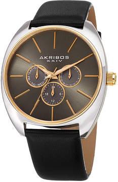 Akribos XXIV Mens Black Strap Watch-A-998bkg