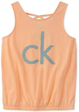 Calvin Klein Big Girls Crisscross Strap Tank Top
