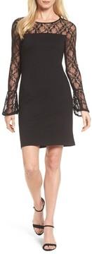 Bobeau Women's Flared Cuff Lace Sleeve Dress