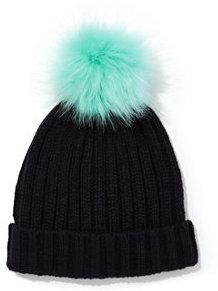 New York & Co. Contrasting Pom-Pom Knit Hat