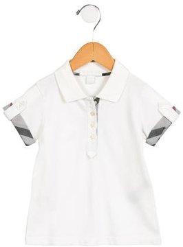 Burberry Girls' Nova Check-Accented Polo Top