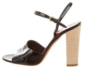 Moschino Cheap & Chic Moschino Cheap and Chic Patent Leather Ankle Strap Sandals