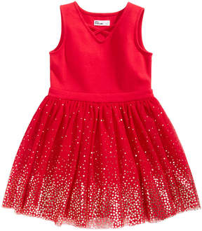 Epic Threads Foil-Print Fit & Flare Dress, Little Girls (4-6X), Created for Macy's