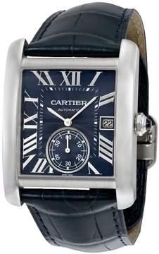 Cartier Tank MC Blue Dial Stainless Steel Men's Watch