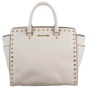 MICHAEL Michael Kors Selma Handle Bag - WHITE - STYLE