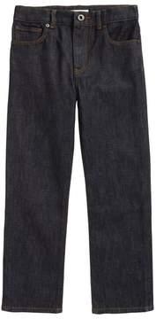 Burberry Check Cuff Straight Leg Jeans