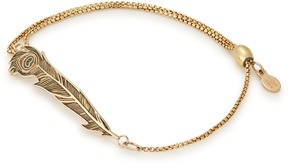 Alex and Ani Peacock Pull Chain Bracelet