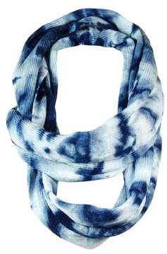 BCBGeneration Women's Ribbed Tie-Dye Loop Infinity Scarf (OS, Blue Night)