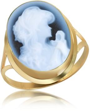 Del Gatto Woman Agate Cameo 18K Gold Ring