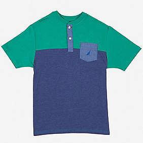 Nautica Boys' Colorblock Henley (8-16)