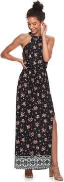 Trixxi Juniors' Floral Halter Maxi Dress