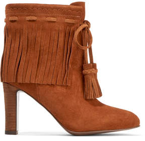 See by Chloe Fringed Suede Ankle Boots - Tan