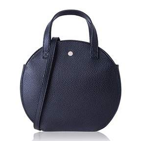 Co The Lovely Tote Women's Round Cross Body Zipper Closure Top Handle Bag Circle Purse