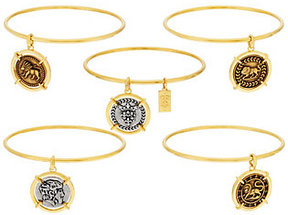 Elizabeth Taylor As Is The Set of 5 Goldtone Coin Charm Bangles