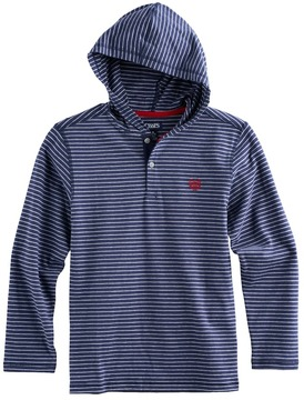 Chaps Boys 4-20 Striped Hooded Tee