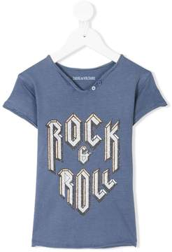 Zadig & Voltaire Kids Rock & Roll print T-shirt