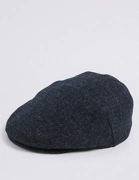Marks and Spencer Pure Wool Flat Cap with StormwearTM