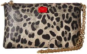 Dolce & Gabbana Pouch with Adjustable Chain Handbags - CAMEL/LEOPARD/RED - STYLE