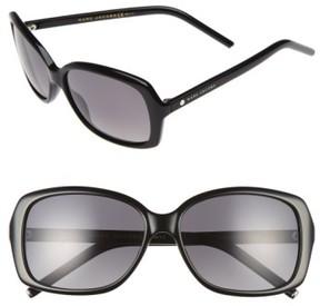 Marc Jacobs Women's Marc 57Mm Polarized Sunglasses - Black/ Grey Polar